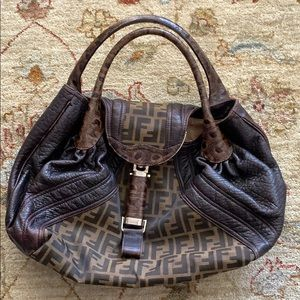 Vintage classic Fendi hobo bag.
